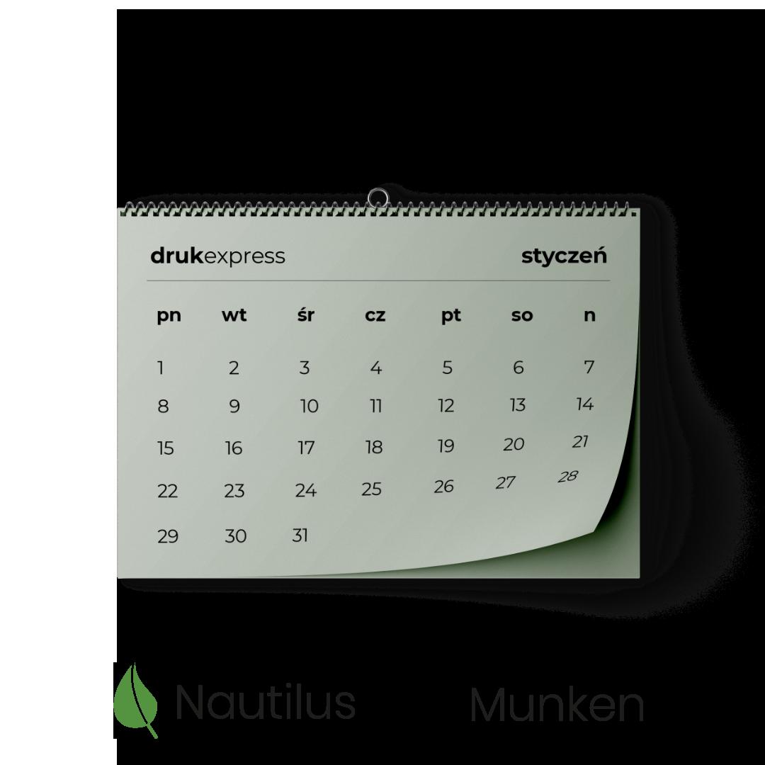 Kalendarz spiralowany Nautilus Munken